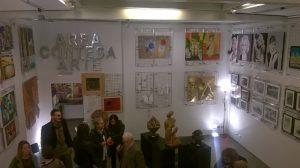 vista d'insieme di alcune delle opere esposte alla mostra collettiva presso AREA CONTESA ARTE