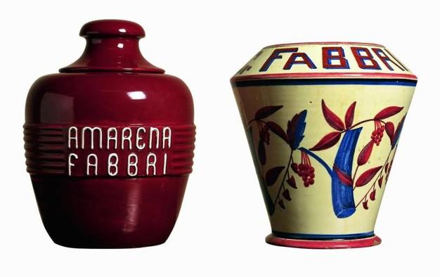 prototipi di vasi per contenere le amarene, mai utilizzati dalla Fabbri